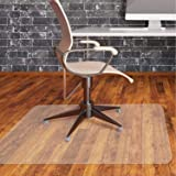 Office Chair Mat for Hardwood Floor by Somolux Computer Desk Swivel Chair PVC Plastic Mat Clear Oversized and Rolling…