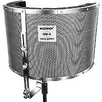 Neewer Protector Filtro Micrófono Amortiguador Cabina de Aislamiento Vocal con Panel de Aluminio Ligero, Espumas Gruesos…