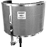 Neewer® Microphone Isolation Shield Absorber Filter Vocal Isolation Booth with Lightweight Aluminum Panel, Thick Soundproofin