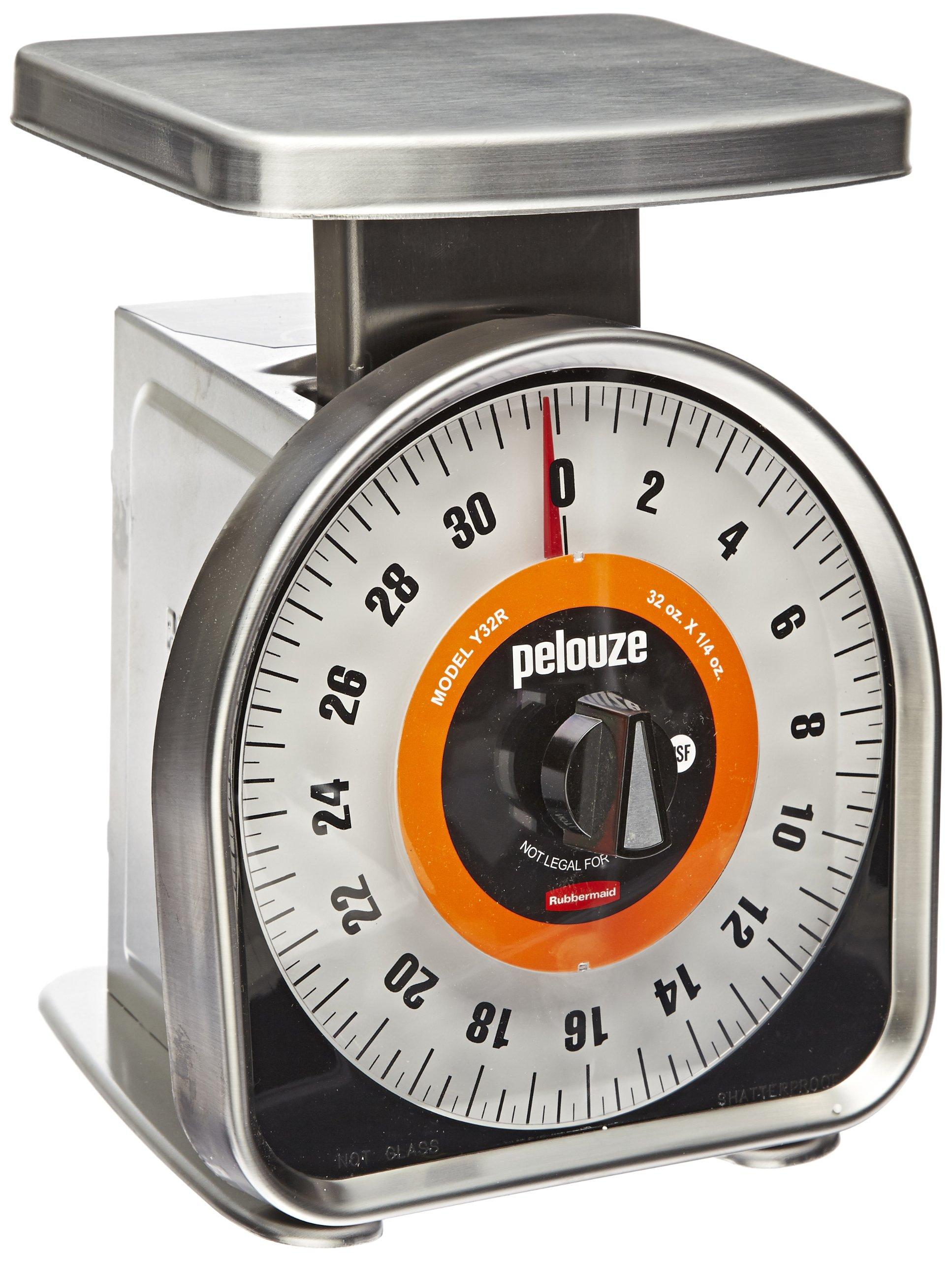 Rubbermaid Commercial Pelouze FGY32R Aluminum Y-Line Mechanical Portion-Control Food Scale, 2-pound by Rubbermaid Commercial Products