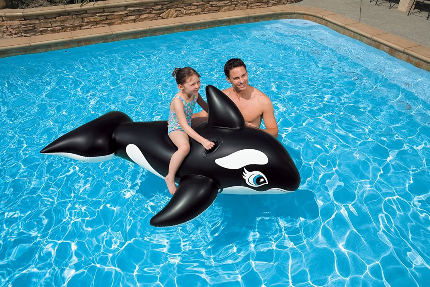 amazon com intex whale ride on 76 inches x 47 inches for ages 3