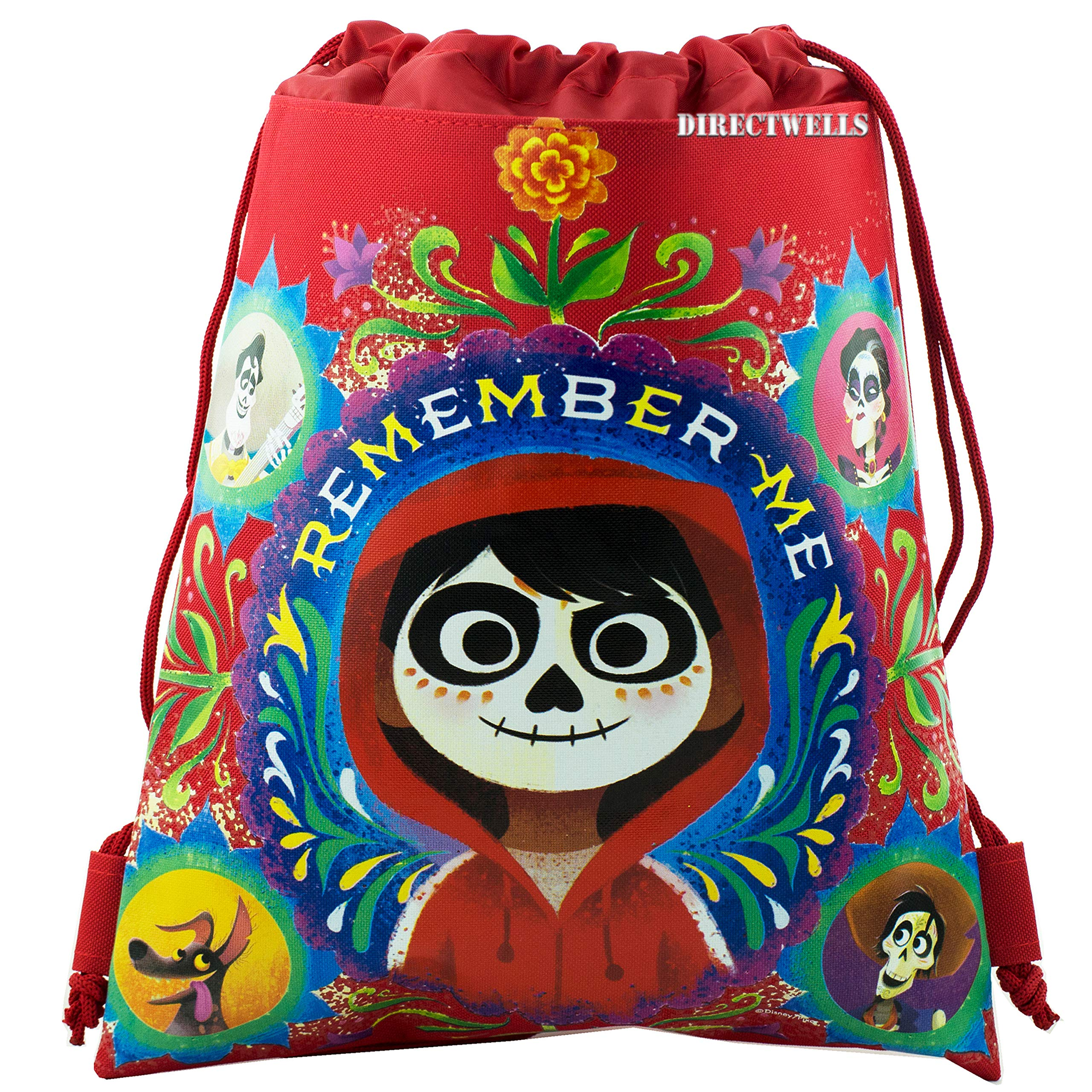 fca53c439f2 Amazon.com  Disney COCO Drawstring Backpack PIXAR Sling Tote Gym Bag (Pink  Miguel)  Kitchen   Dining
