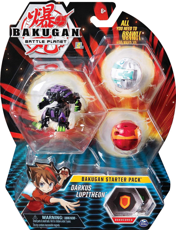 Bakungan Starter Pack, 2 Clásicos y 1 Ultra. Pro Werewolf Negro, Gorilla Rojo y T-Rex Blanco: Amazon.es: Juguetes y juegos