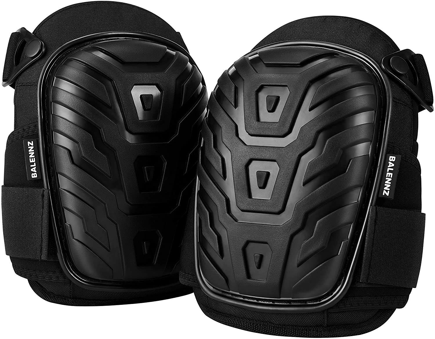 Professional Knee Pads for Work - Heavy Duty Foam Padding Gel Construction Knee Pads with Strong Double Straps – Comfortable Knee Protection for Indoor and Outdoor Use