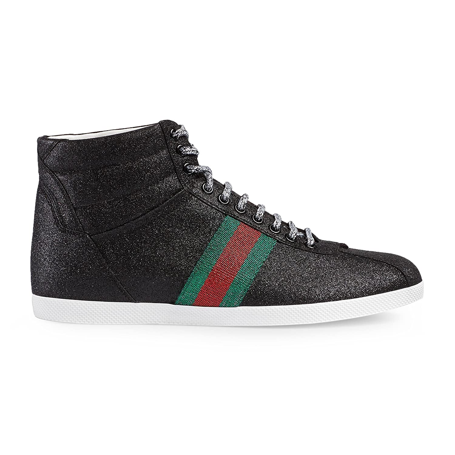 51eeb8afa26 Gucci Men s Glitter Web High-top Sneaker