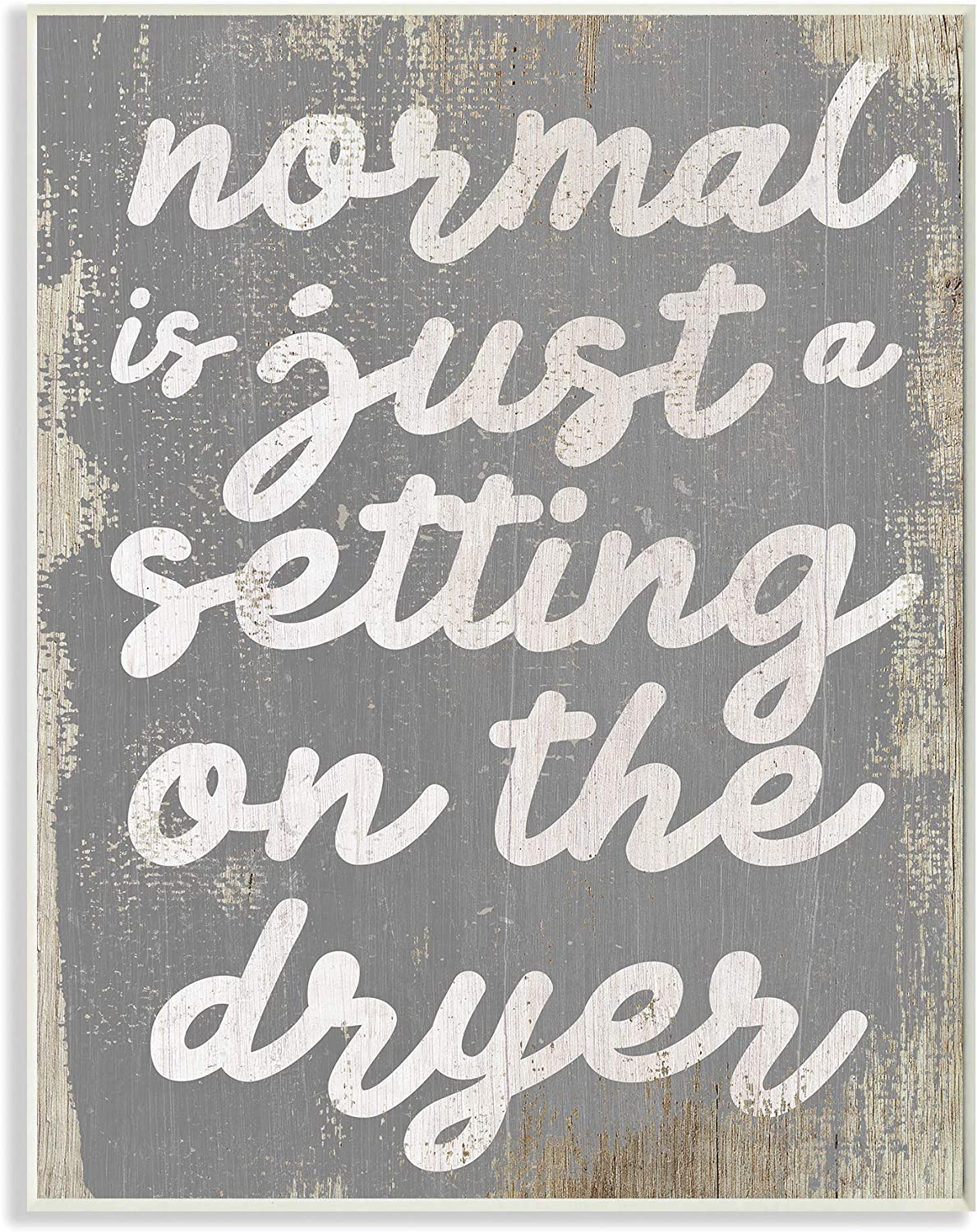 Stupell Industries Normal Setting Funny Family Laundry Bathroom Word, Design by Artist Daphne Polselli Art, 13 x 0.5 x 19, Wall Plaque