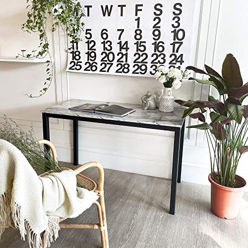 Tilly Lin Faux Marble Writing Desk Computer Desk