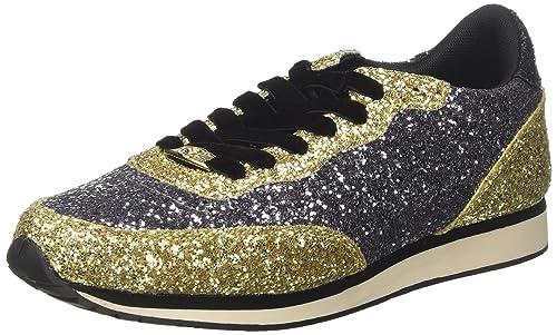 ecfda4cb1c Guess Women's Sunny Low-Top Sneakers, Multicolour Pewgo, 3.5: Amazon ...