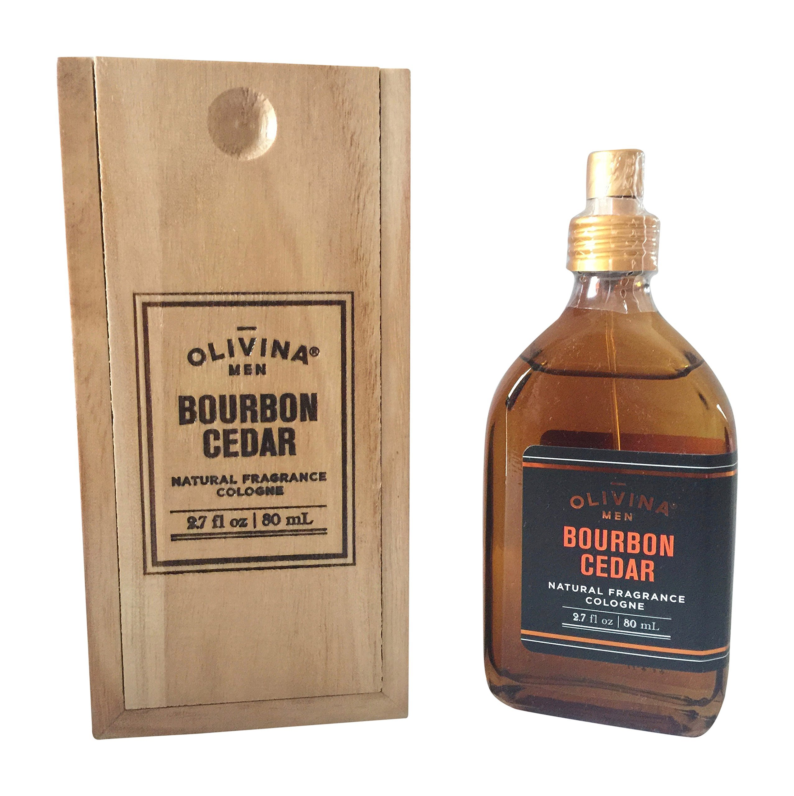 Olivina, Cologne Bourbon Cedar Boxed, 2.7 Fl Oz
