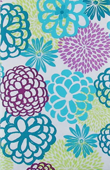 Awesome Blooming Blossom Flowers Vinyl Flannel Back Tablecloth (52u0026quot; X 70u0026quot;  ...