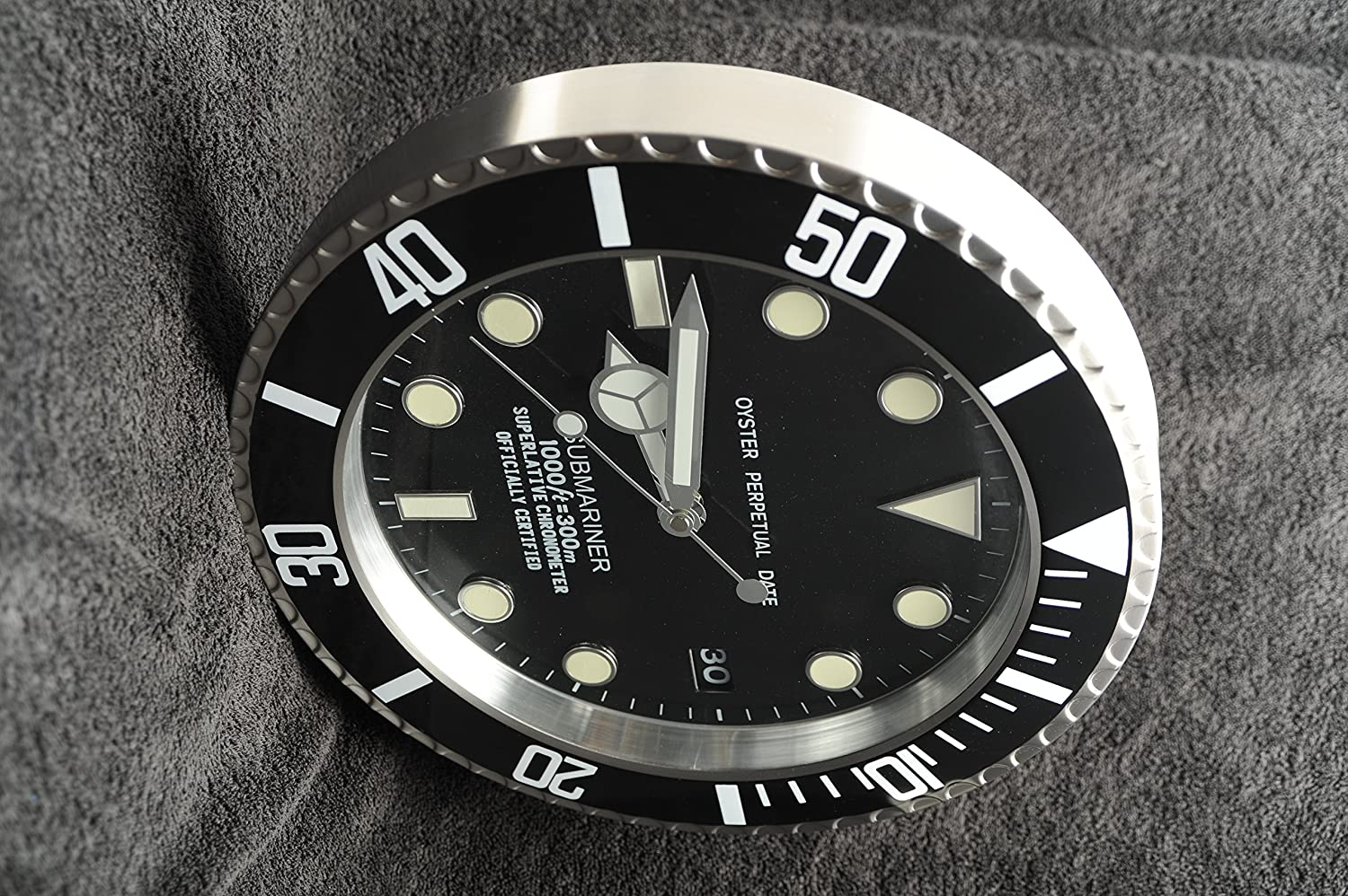 Dealer wall clock submariner gmt rolex style black amazon dealer wall clock submariner gmt rolex style black amazon kitchen home amipublicfo Gallery