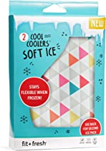 Fit + Fresh Soft Cool Coolers Ice Packs, Long Lasting Ice
