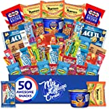 My College Crate Microwave Snack Care Package - 50 Piece Bulk Variety Pack Box for Adults and Kids with Ramen Mix
