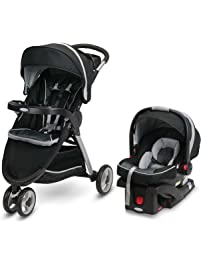 Graco FastAction Fold Sport Travel System | Includes the FastAction Fold Sport 3-Wheel Stroller and SnugRide 35 Infant...