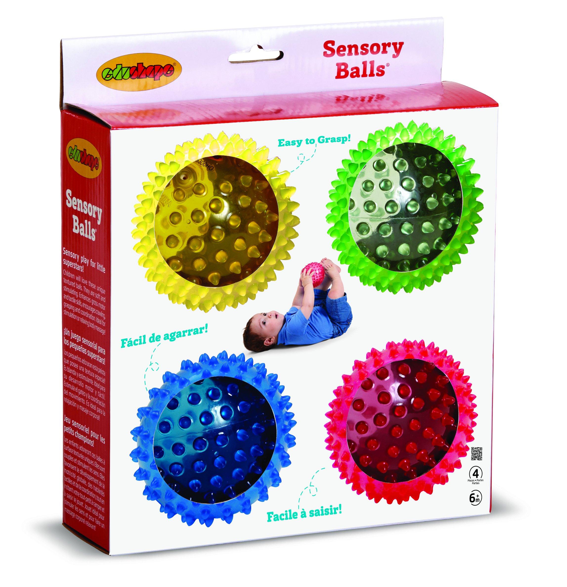Edushape See-Me Sensory Balls, 4 Inch, Translucent, 4 Ball Set by Edushape