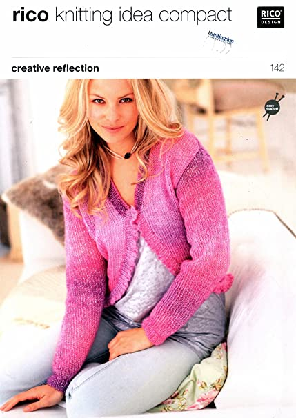 Knitting Pattern Womans Cardigans To Knit Creative Reflection Rico