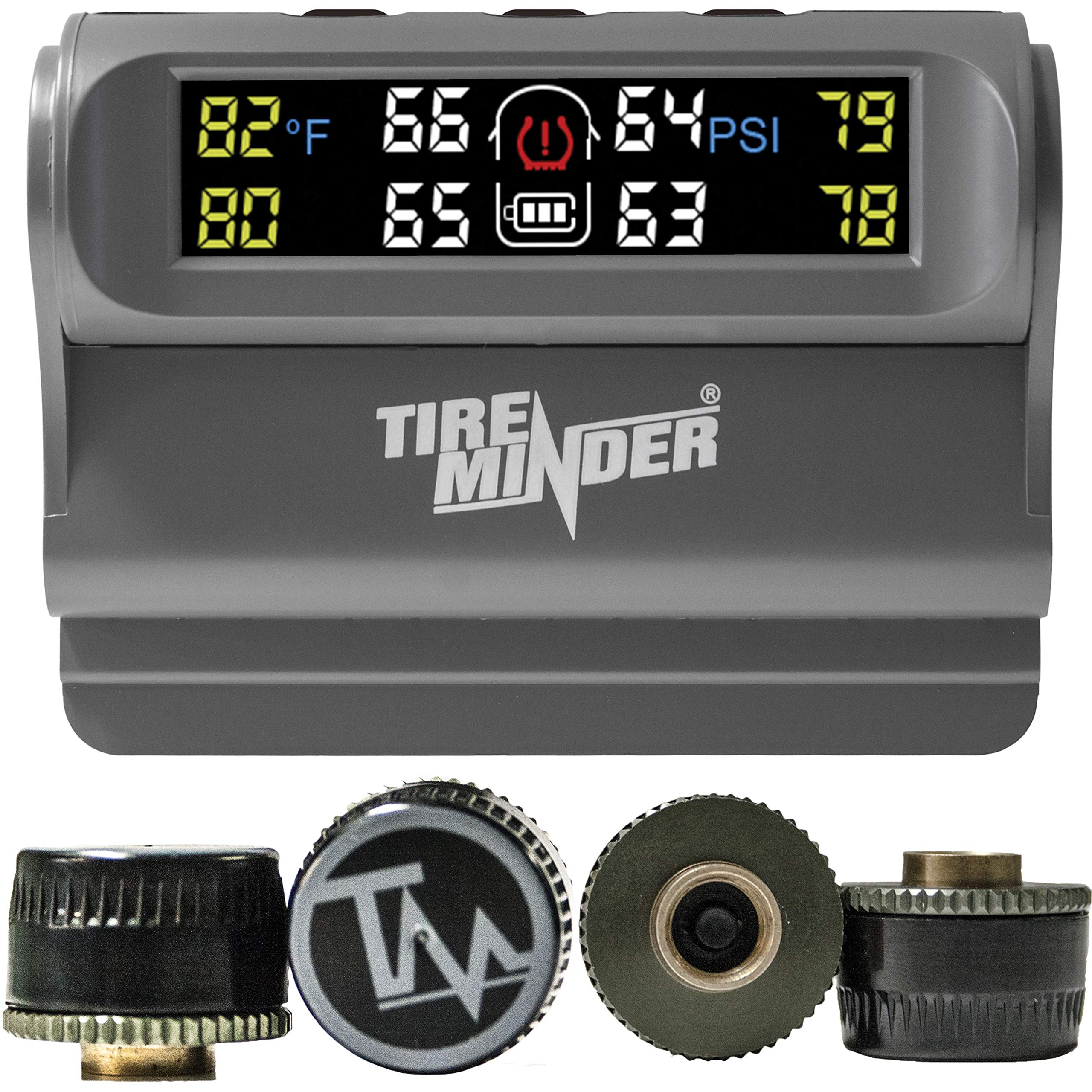 TireMinder Solar Powered Trailer TPMS, 4 Tire Kit by Minder Research