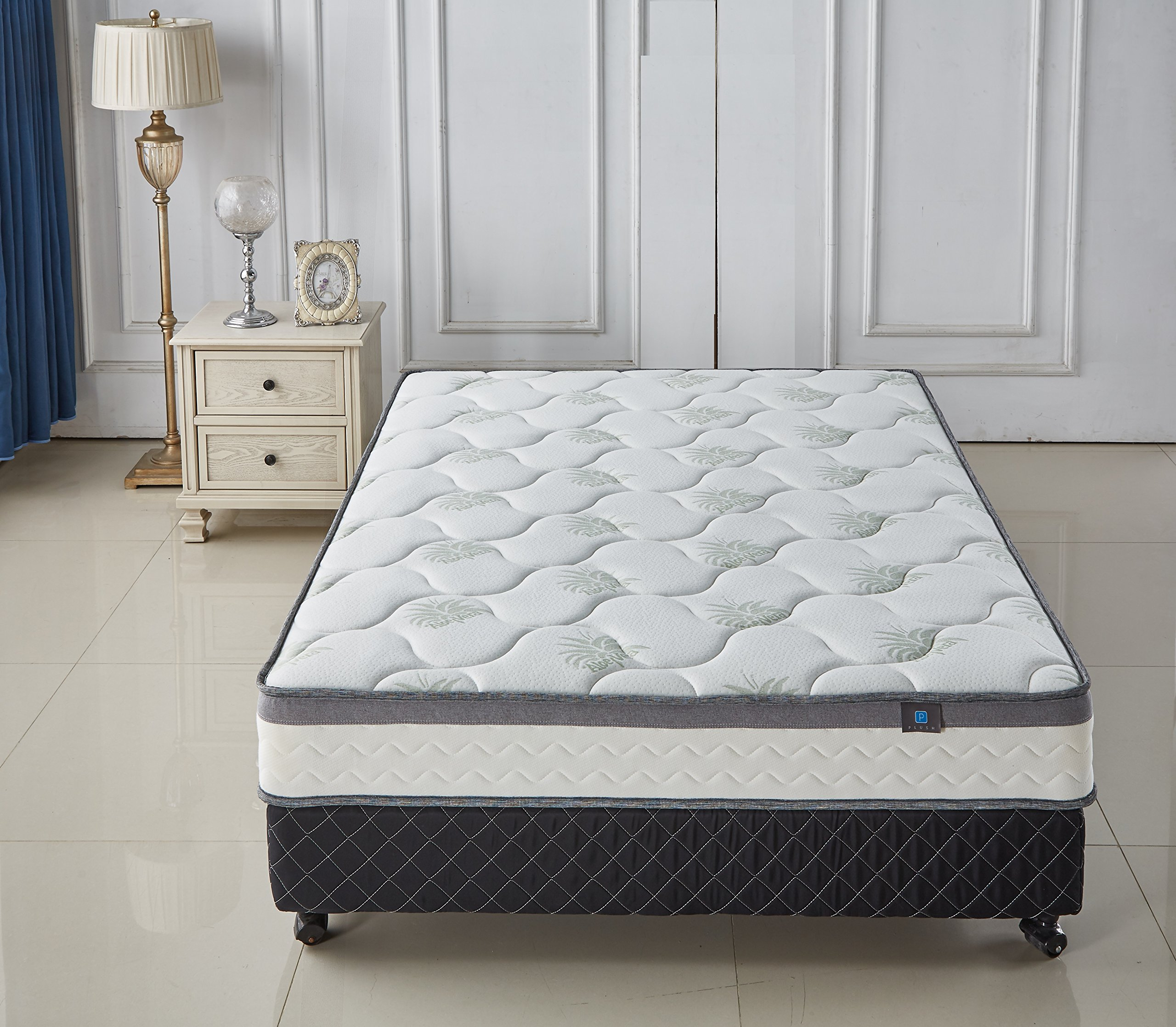 Aloe Vera 9- Inch Memory Foam & Spring Full Mattress - Cool & Gel Infused - Plush Double Layered, Full by AS Quality Signature Mattresses