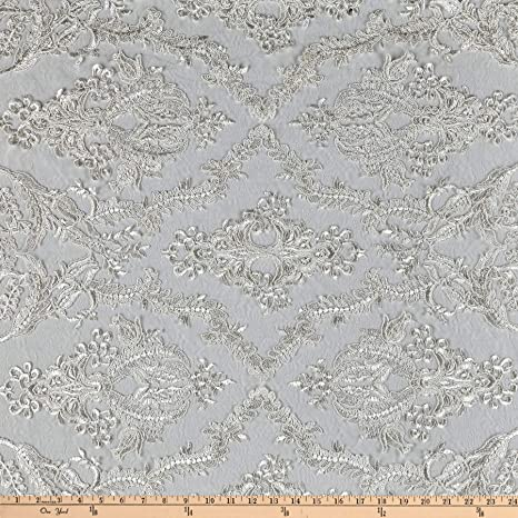 "55/"" Wide Grey Per Yard Faux Dupioni Silk Dress Apparel Fabric"