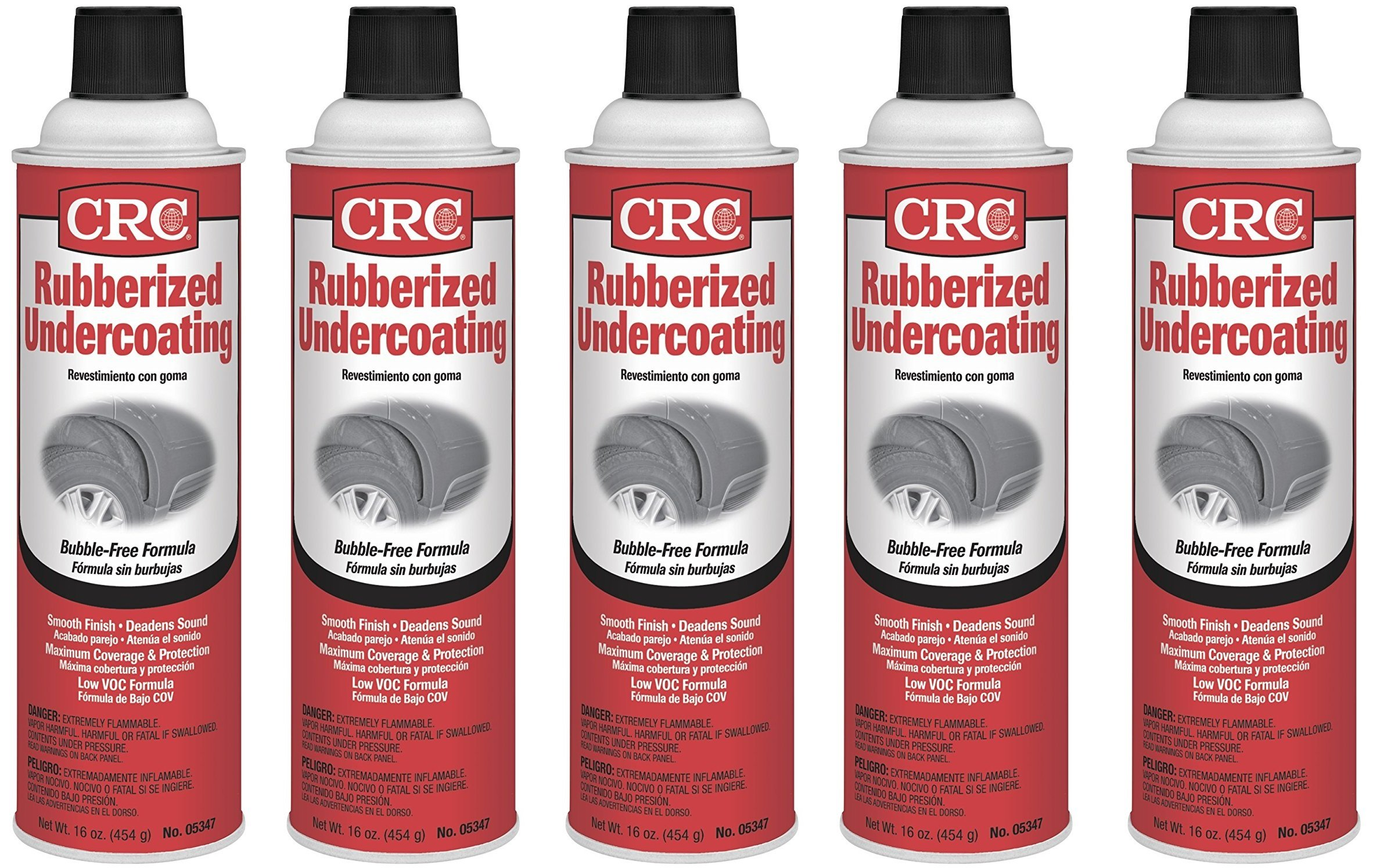 CRC Barkleen CRC 05347 Rubberized Spray Undercoating - 16 Wt Oz. (5) by CRC Barkleen (Image #1)