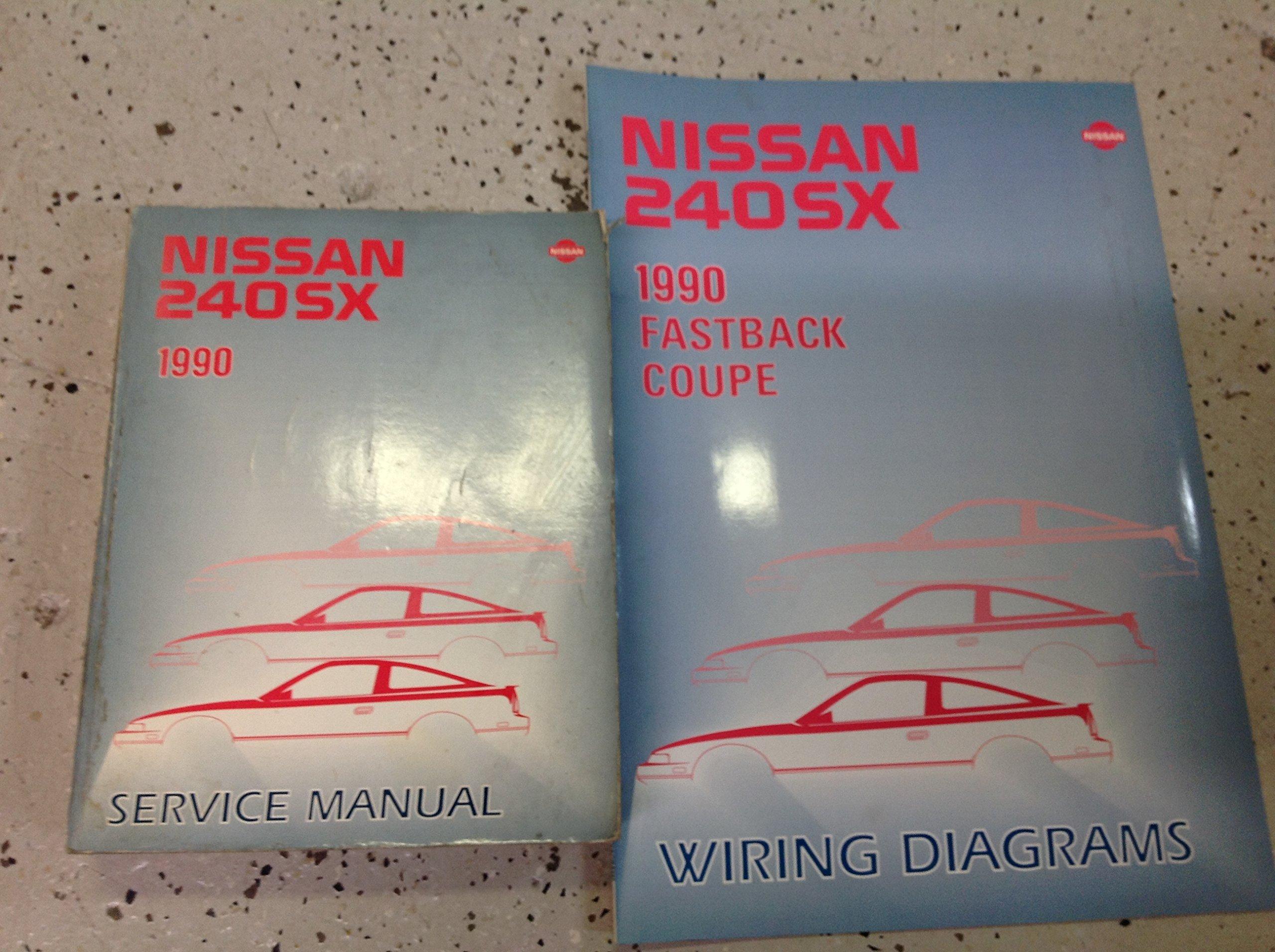 1990 nissan 240sx service repair shop manual factory oem w electrical wiring  ewd paperback – 1990