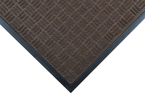 Notrax 167 Portrait Entrance Mat, for Lobbies and Indoor Entranceways, 2 Width x 3 Length x 1 4 Thickness, Brown