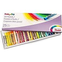 Pentel Arts Oil Pastels, 25 Color Set (PHN-25)