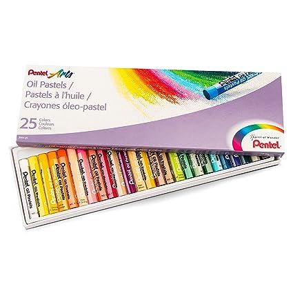 amazon com pentel arts oil pastels 25 color set phn 25