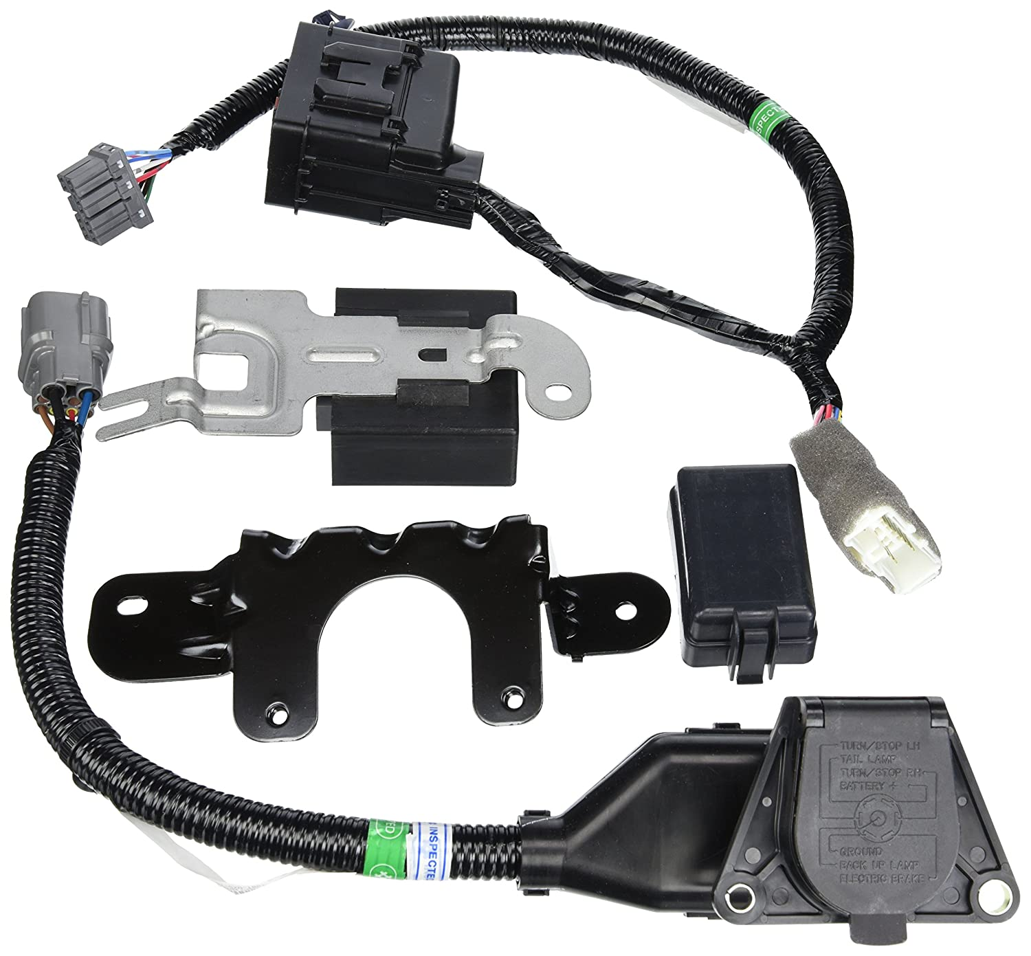 91JV15jVGiL._SL1500_ amazon com genuine honda 08l91 sza 100a trailer hitch harness honda ridgeline trailer wiring harness instructions at bayanpartner.co