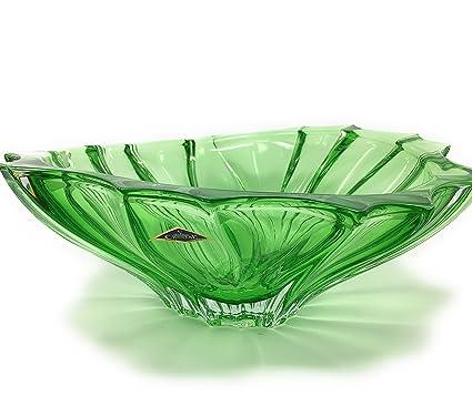 Amazon Com Czech Bohemian Crystal Glass Bowl Vase 12 D Plantica