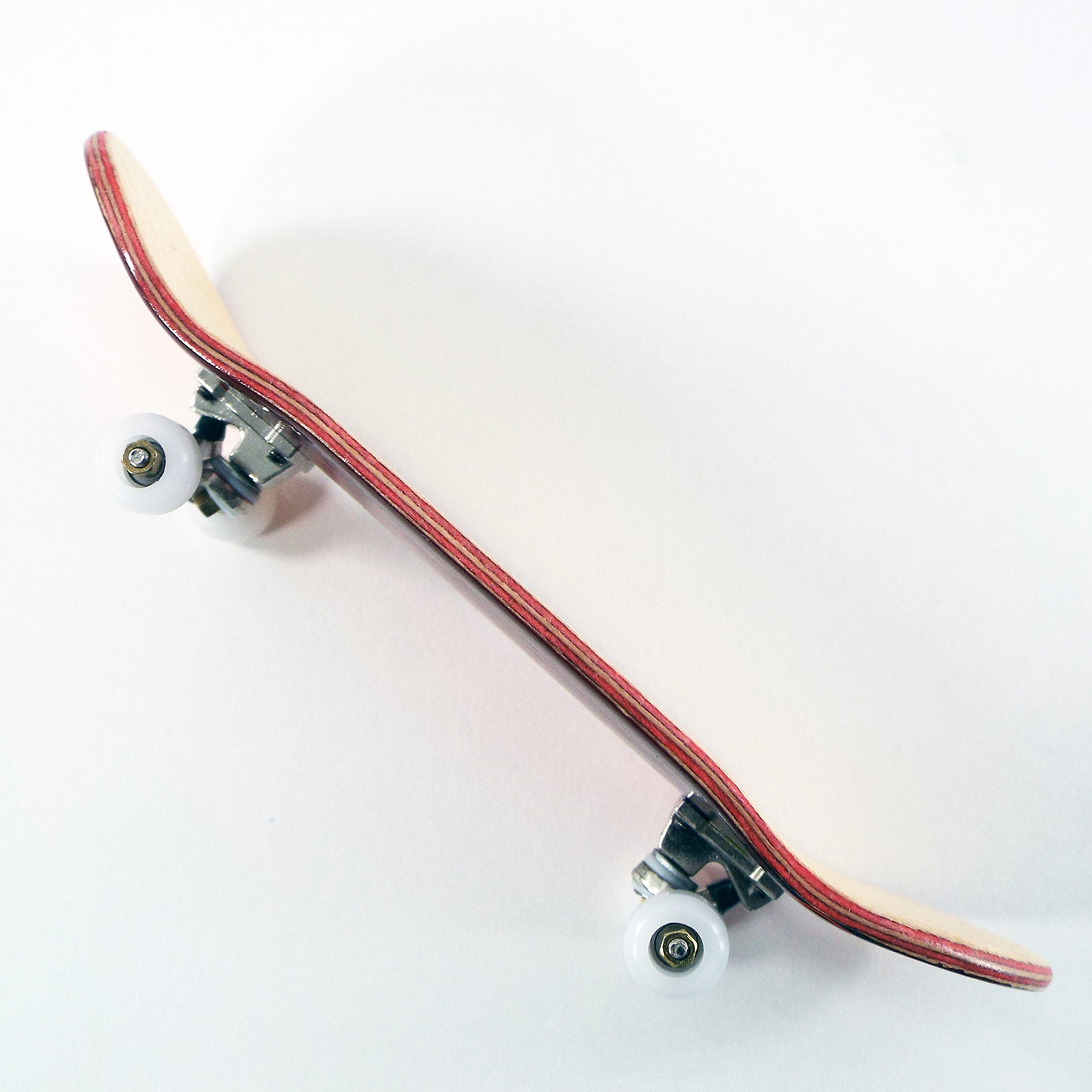 P-Rep Fired Up 30mm Graphic Complete Wooden Fingerboard w CNC Lathed Bearing Wheels by Peoples Republic by Broken Knuckle Fingerboards (Image #3)