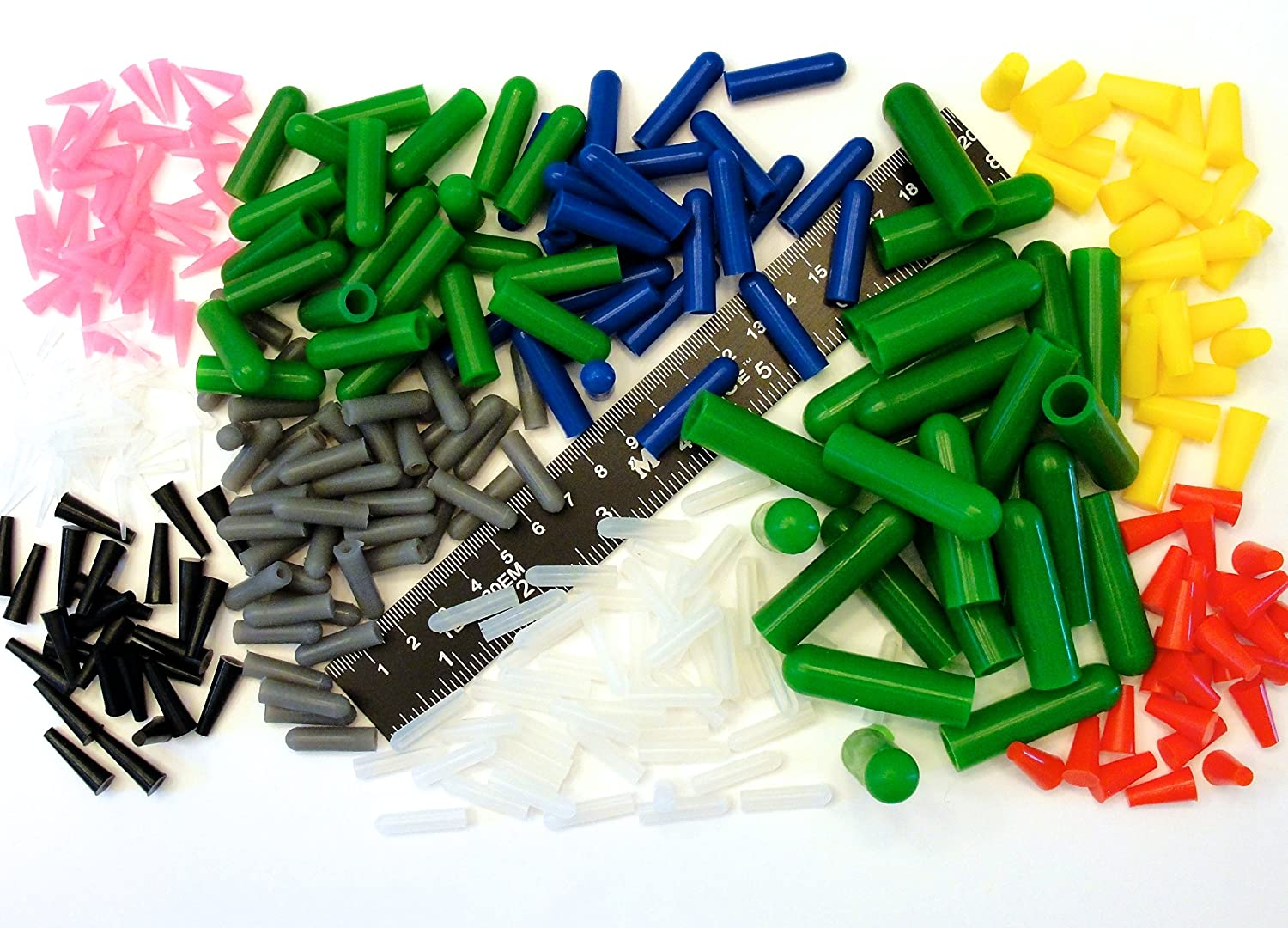 350pc Ultra Precision High Temp Silicone Rubber Plug & Cap Kit Powder Coating Custom Paint Supplies