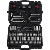 AmazonBasics Mechanic Socket Tool Kit Set With Case - Set of 145