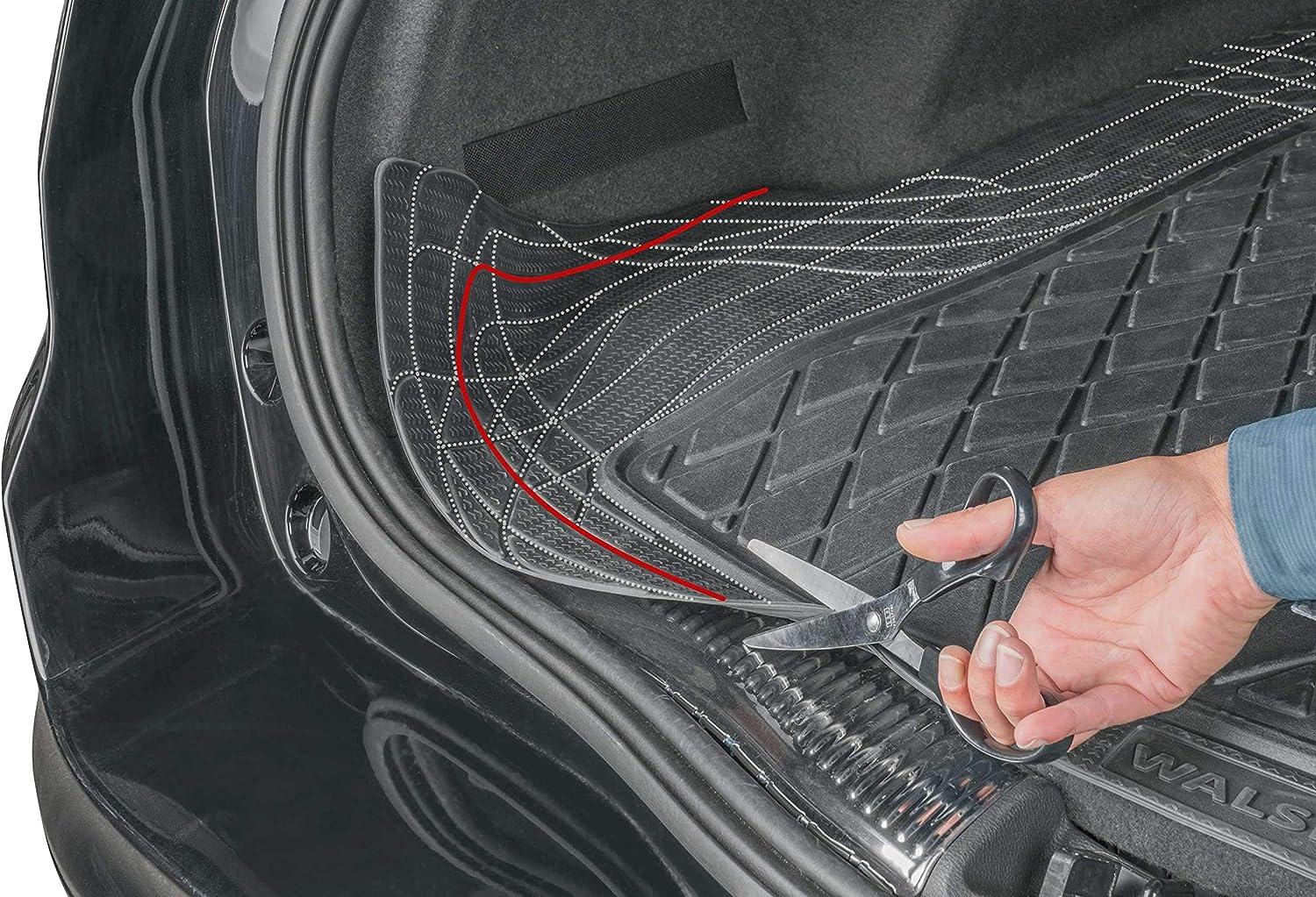 2007-2015 R25S0711 rmg-Distribution Tapis de Coffre pour Laguna Version III RMG25 Tapis en Caoutchouc pour Coffre de Voiture D/écoupable Dimensions 130 x 120 cm