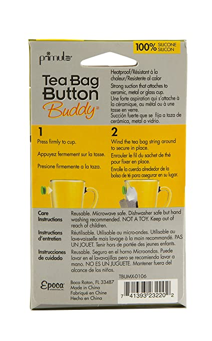 Amazon.com: Primula Tea Bag Button Buddy - Silicone - 100% BPA, PVC, Phthalate, and Lead Free - Pack of 6 - Red, White, Pink, Green, Blue, ...