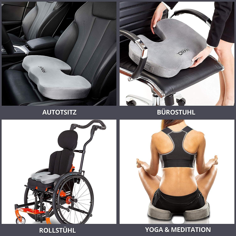 Orthopädisches Sitzkissen zur Entlastung der Lendenwirbelsäule (LWS)
