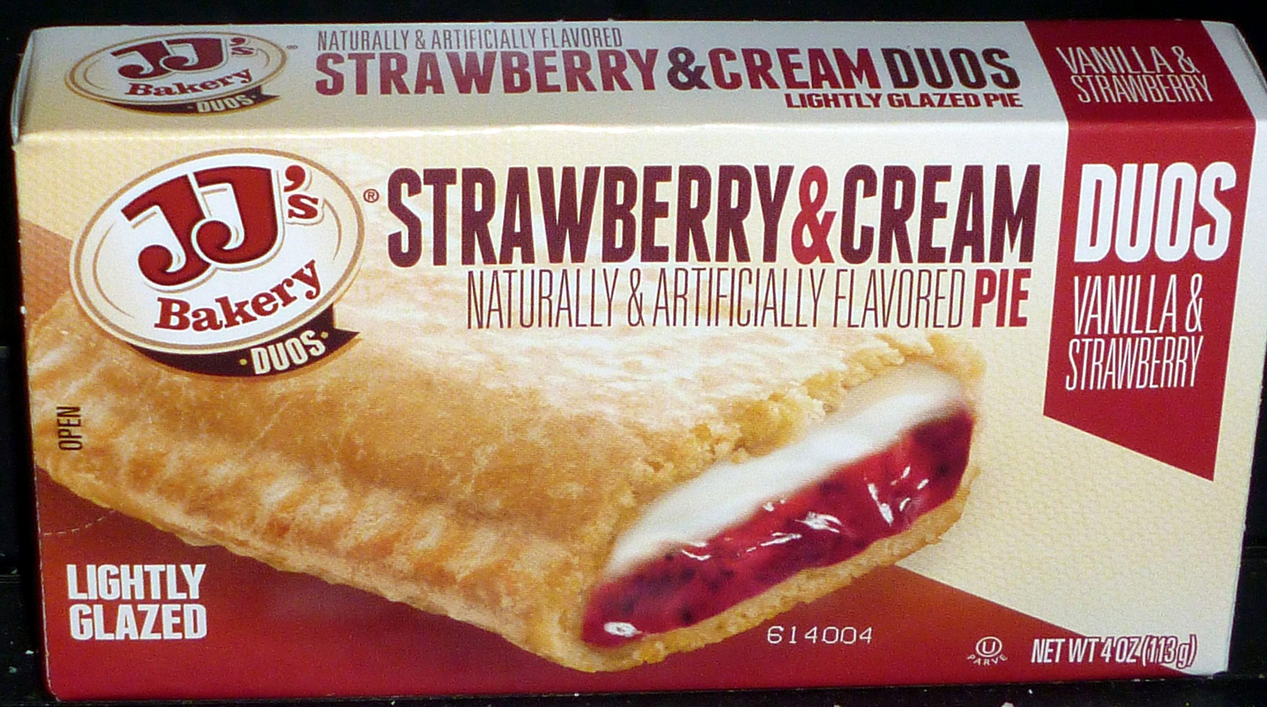 JJ`s Bakery Duos Strawberry & Cream Fruit Pies (6 Pack)