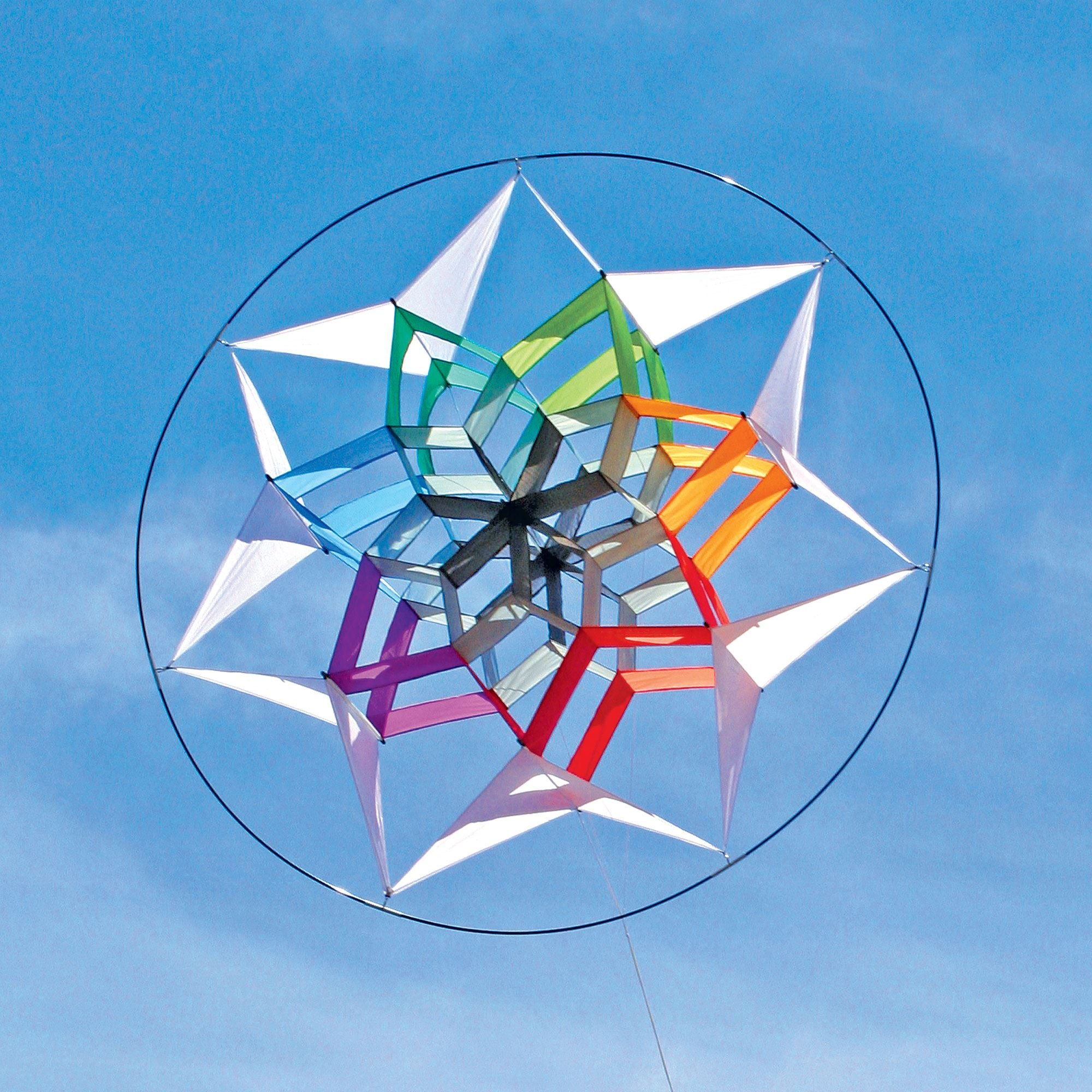 Into The Wind Star 7 Rainbow Facet Box Kite by Into The Wind