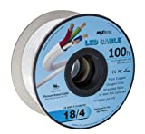 LED Cable 4 Conductor Jacketed in-Wall Speaker Wire UL/cUL Class 2