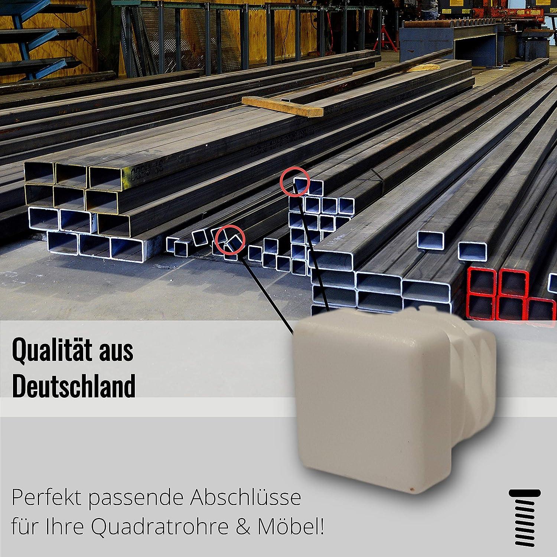para tubos cuadrados dimensiones exteriores 60x60x3 mm 4 tapas gris