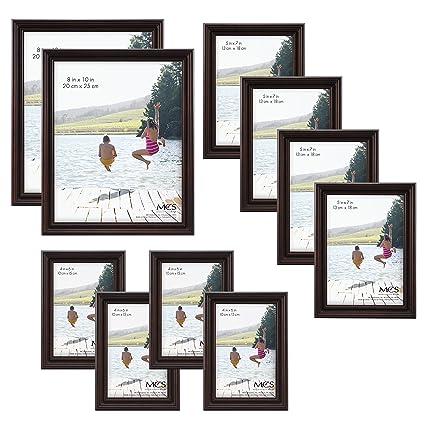 419e48178b Amazon.com  MCS 10pc Multi Pack Picture Frame Value Set - Two 8x10 ...