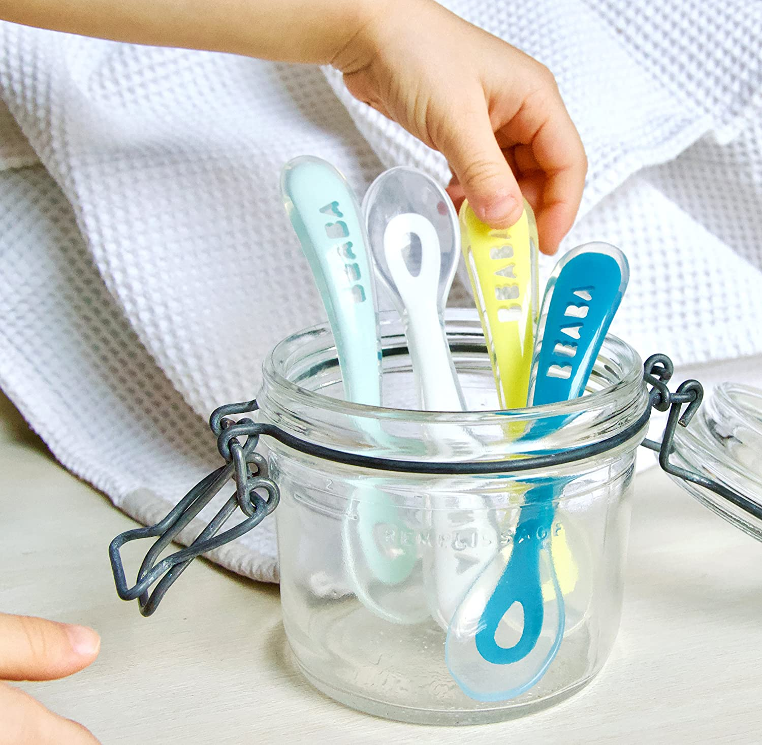 Beaba Baby Second Stage Silicone Weaning Spoons Set of Four