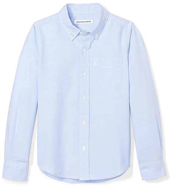 038e23badc614 Amazon.com  Amazon Essentials Boys  Long-Sleeve Uniform Oxford Shirt ...
