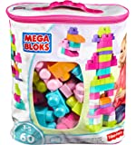 Mega Bloks Big Building Bag, 60-Piece (Pink)