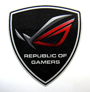 amazon com asus republic of gamers sticker 30 x 33mm 729 automotive rh amazon com republic of gamers logo vector asus republic of gamers logo