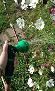 ikris Metal Lever Garden Hose Nozzle 10-Pattern One-Touch Sprayer