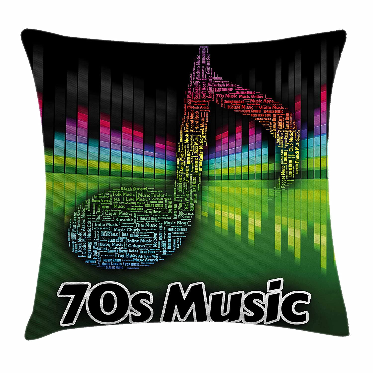 Amazon com: Ambesonne 70s Party Throw Pillow Cushion Cover