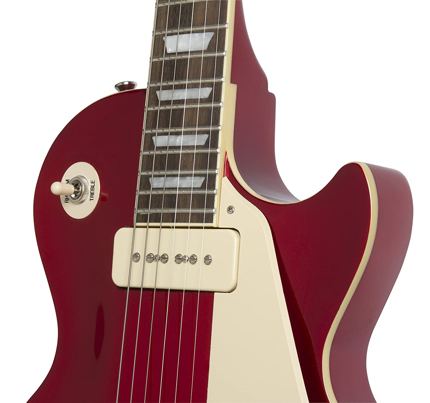 Epiphone Ltd Ed 1956 Les Paul Standard PRO - Guitarra eléctrica, color rojo (Amazon Exclusivo)