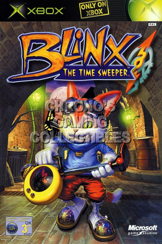 "CGC Huge Poster - Blinx The Time Sweeper BOX ART - Original XBOX - XBX006 (16"" X 24"")"