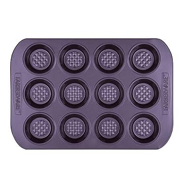 Farberware 47141 Colorvive Bakeware Nonstick Muffin Pan Purple